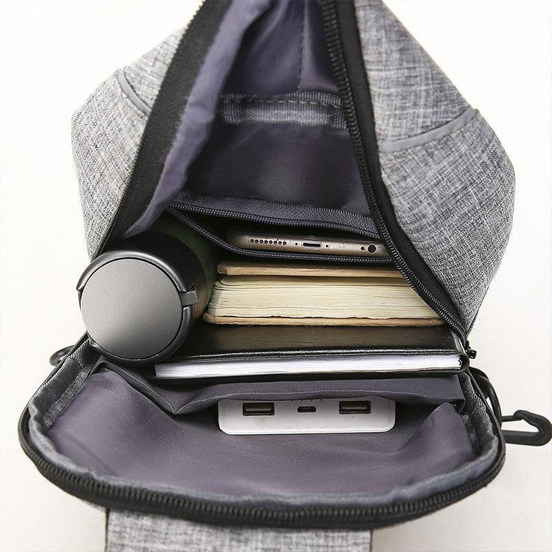 Men Chest Bags Crossbody Messenger Travel Sports School