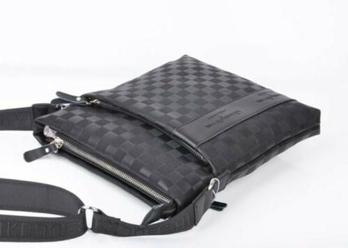 casual men s leather crossbody messenger bag