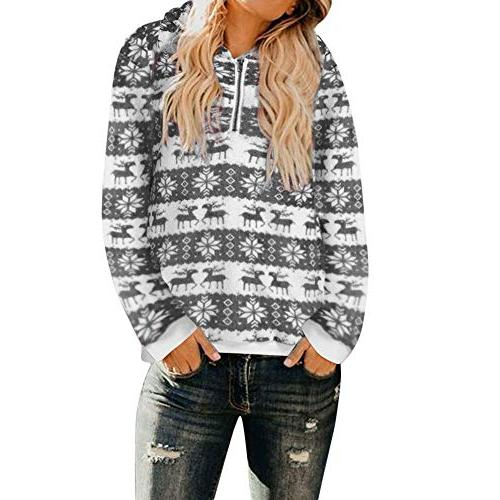 christmas hooded sweatshirt for women winter sweatshirt