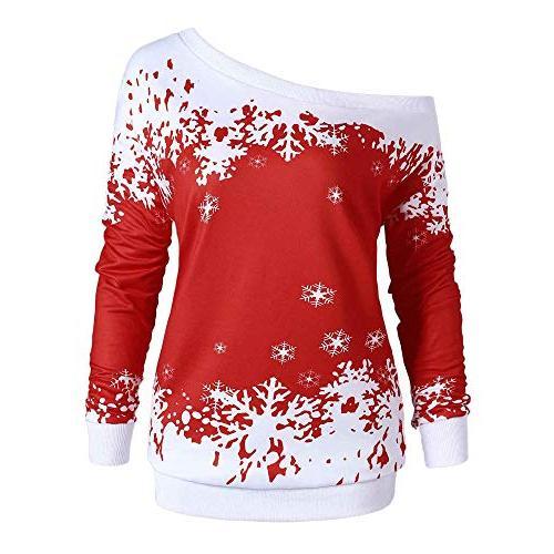 christmas shirt women long sleeve pullover tops