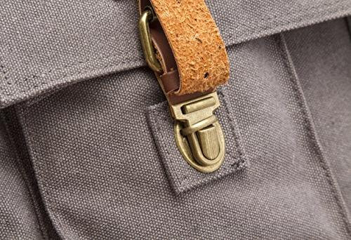 Sweetbriar Messenger Bag, Gray Canvas Pack Laptops up Inches