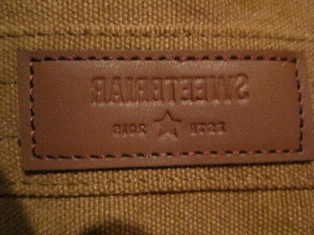 Sweetbriar Briefcase Brown Canvas Leather Shoulder Strap