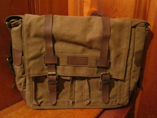 classic laptop messenger bag briefcase olive green