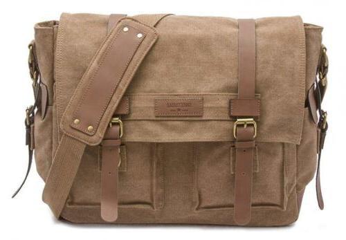 Sweetbriar Classic Laptop Messenger Bag, Brown - Canvas Pack