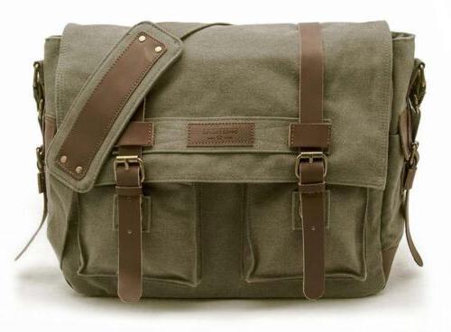 Sweetbriar Classic Laptop Messenger Bag, Olive Drab - Canvas