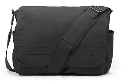classic messenger bag vintage canvas shoulder black