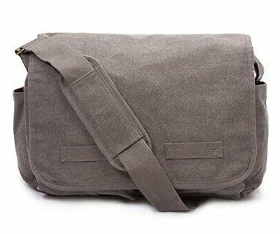 classic messenger bag vintage canvas shoulder large