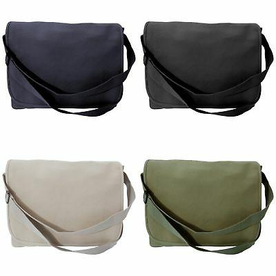 Bagbase Classic Shoulder Strap Canvas Messenger Bag