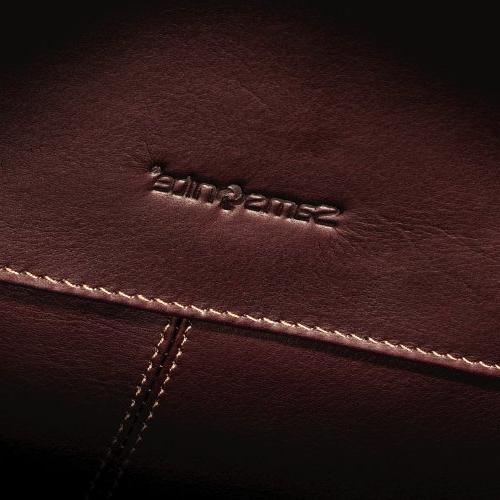 Samsonite Leather Flap-Over Messenger Bag,