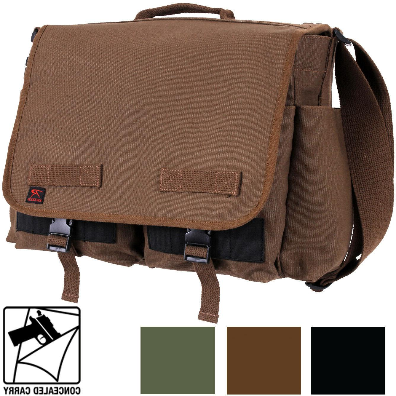 Tactical Concealed Carry Messenger Bag Ccw Edc Discreet