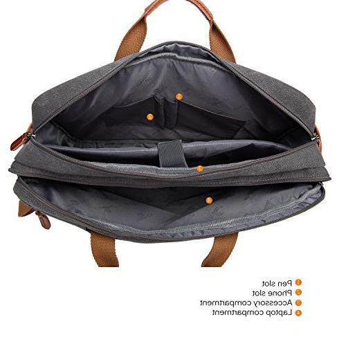 CoolBELL Bag Shoulder Bag Laptop Case Multi-Functional Travel 17.3 Men/Women