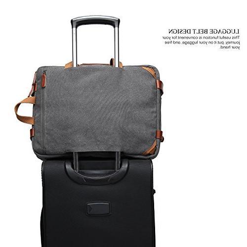 CoolBELL Convertible Bag Shoulder Case Handbag Business Briefcase Multi-Functional Travel Fits 17.3