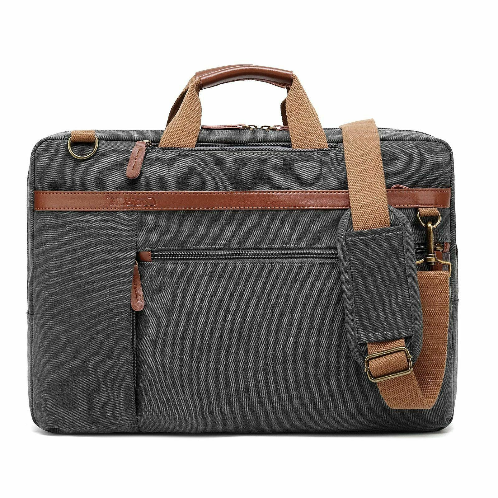 CoolBELL Convertible Shoulder Fits Laptop Gray