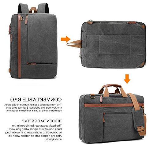 CoolBELL Convertible Shoulder Bag Messenger Laptop Case Business Handbag Travel Rucksack Fits Laptop for