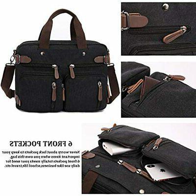 Convertible Backpack 15.6 Inch Messenger Bag Men/Women (15.6