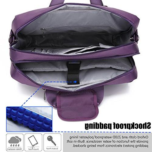 CoolBELL Laptop Messenger Oxford Cloth Multi-Functional Briefcase Women