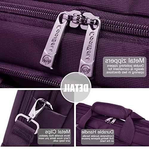 CoolBELL Laptop Messenger Bag Oxford Cloth Shoulder Bag Multi-Functional Briefcase