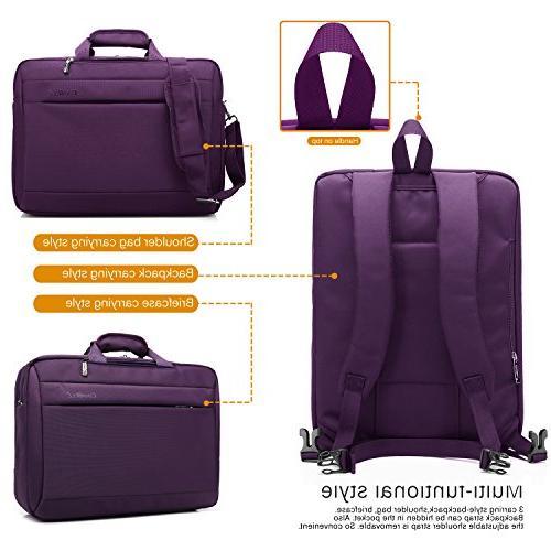 CoolBELL Convertible Laptop Messenger Bag Oxford Cloth Shoulder Multi-Functional Women
