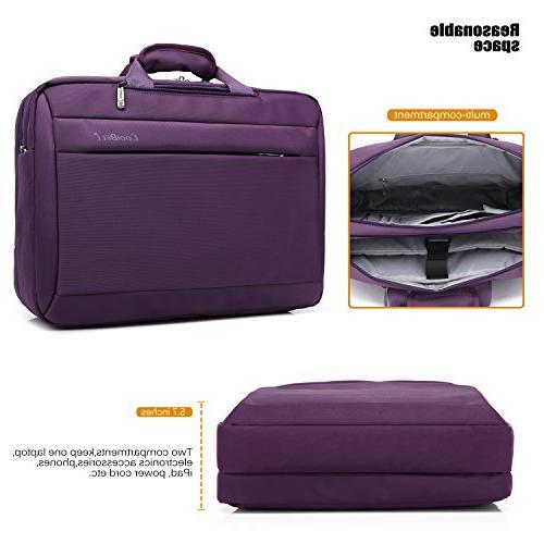 CoolBELL Laptop Messenger Bag Cloth Shoulder Bag Multi-Functional Laptop/MacBook/Tablet Women