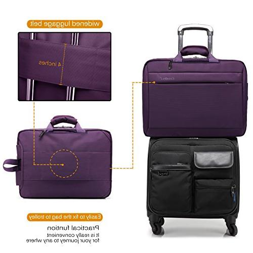 CoolBELL 17.3 Laptop Messenger Oxford Cloth Shoulder Multi-Functional Briefcase Women