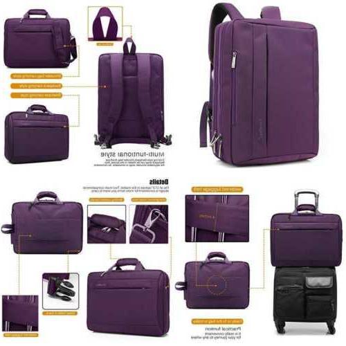 CoolBELL 17.3 Laptop Messenger Cloth Shoulder Bag Backpack Multi-Functional Briefcase Women