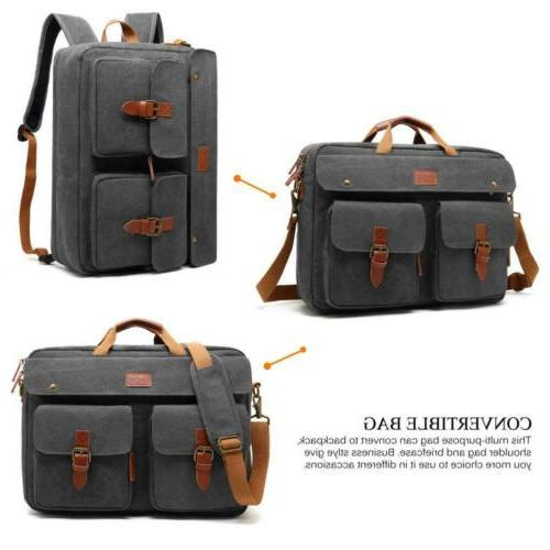 """CoolBELL Convertible Backpack 17.3"""" Canvas Grey"""
