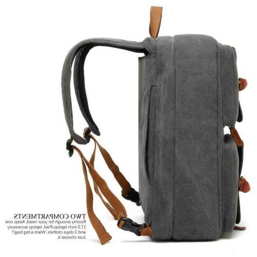 "CoolBELL Convertible Messenger Bag Backpack 17.3"" Grey"