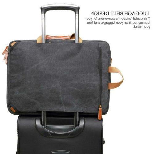 CoolBELL Convertible Messenger Backpack Dark Grey 17.8x4.8x13.5