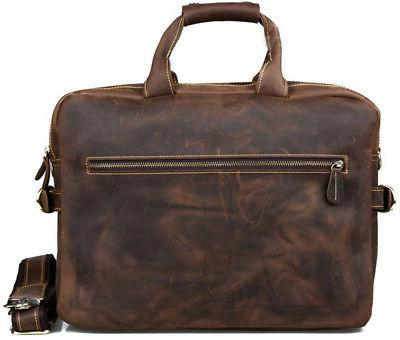 Kattee Crazy Horse Leather Briefcase Shoulder Business Bags