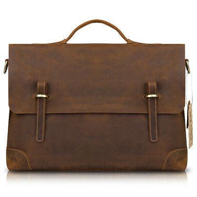 Kattee Men's Leather Bag Business Messenger Shoulder
