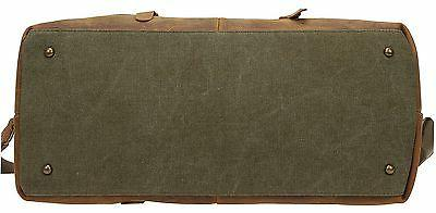 Duffel Bag Large Canvas and Leather Carryon Bag