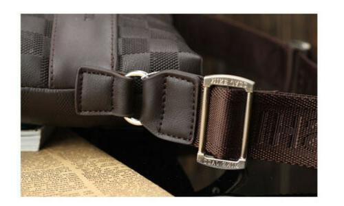 Fashion Men's Leather Messenger Bag Crossbody Bags Business Satchel