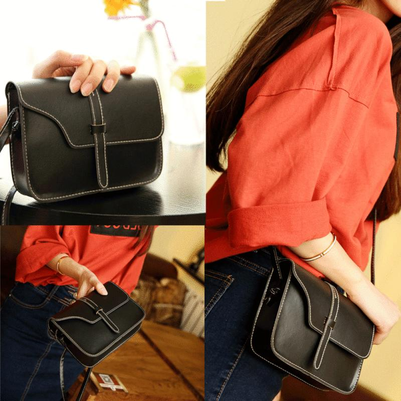 Fashion Women's Vintage Purse Bag Leather Cross Body Shoulde