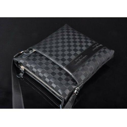 Casual Men's Leather Messenger Bag Shoulder Crossbody Bags S