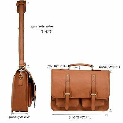 Banuce Full Leather Briefcase 15.6