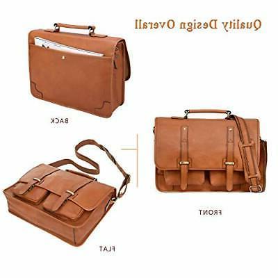 Banuce Full Grain Italian Leather 15.6 Inch Laptop