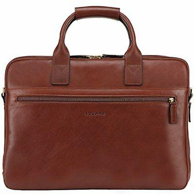 Banuce Full Grain Leather Briefcase for Men Business Tote Me