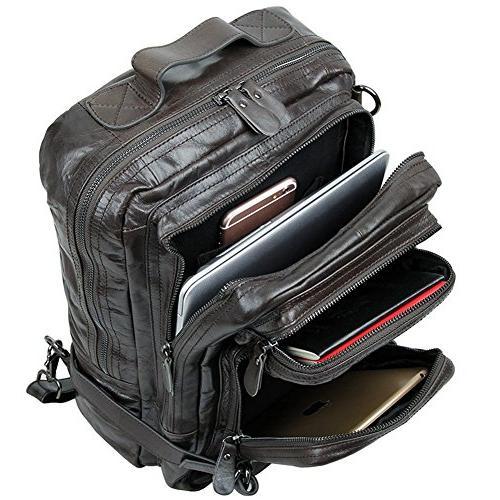 Berchirly Vintage Leather Bag Rucksack