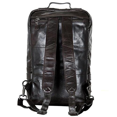Berchirly Large Travel Leather Messenger Bag Rucksack