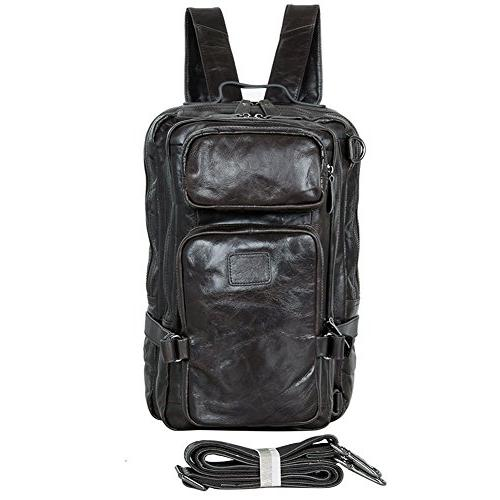 Berchirly Large Travel Leather Backpack Laptop Bag