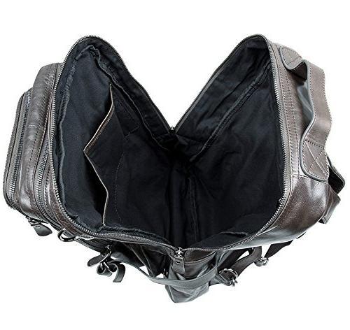 Berchirly Vintage Leather Laptop Bag Rucksack