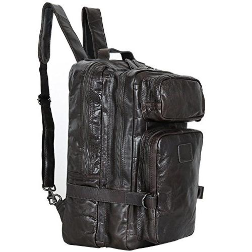 genuine leather backpack laptop messenger