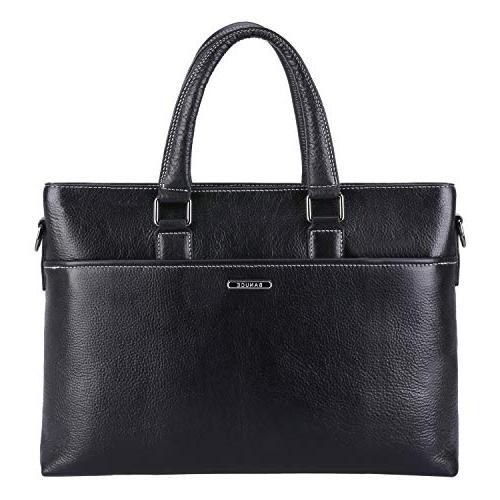 Banuce Genuine Briefcase For Men Women Shoulder Messenger Bag