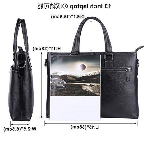 Banuce Leather For Men Shoulder Messenger Bag Executive
