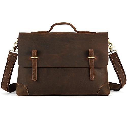 genuine leather messenger bag tote