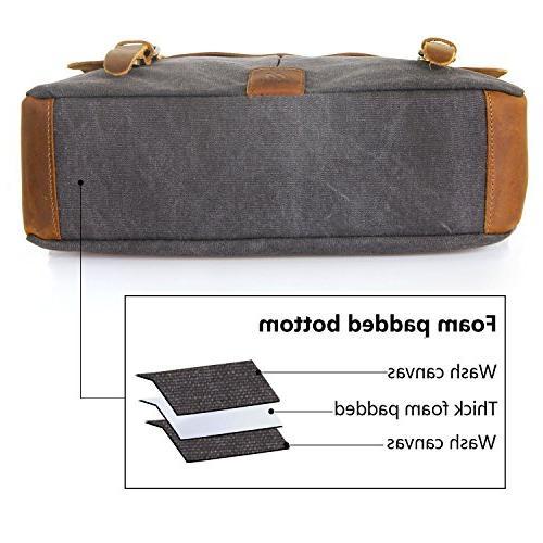 Langforth Genuine Leather 14 Messenger Satchel 13 x10.5