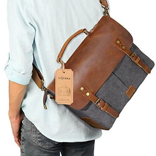 genuine leather vintage 14 laptop
