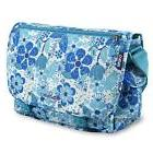 girls terry messenger bag blue vine