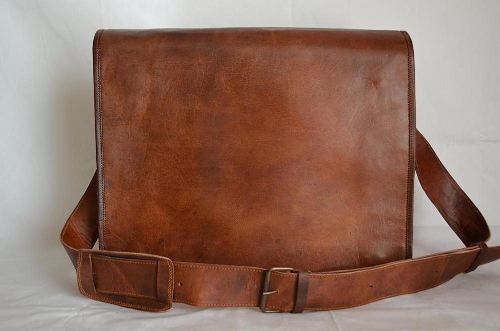 High Quality Messenger Genuine Vintage Leather Laptop