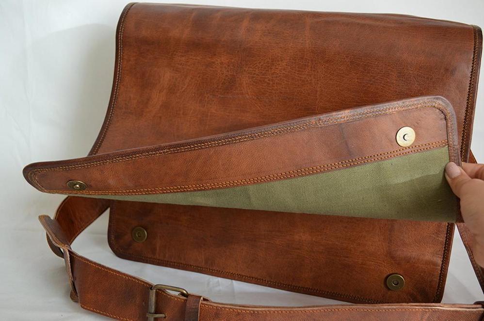 High Messenger Genuine Leather Laptop